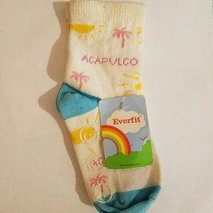 Everfit Ankle Socks Sizes 9-24M and 2-4Y NWT